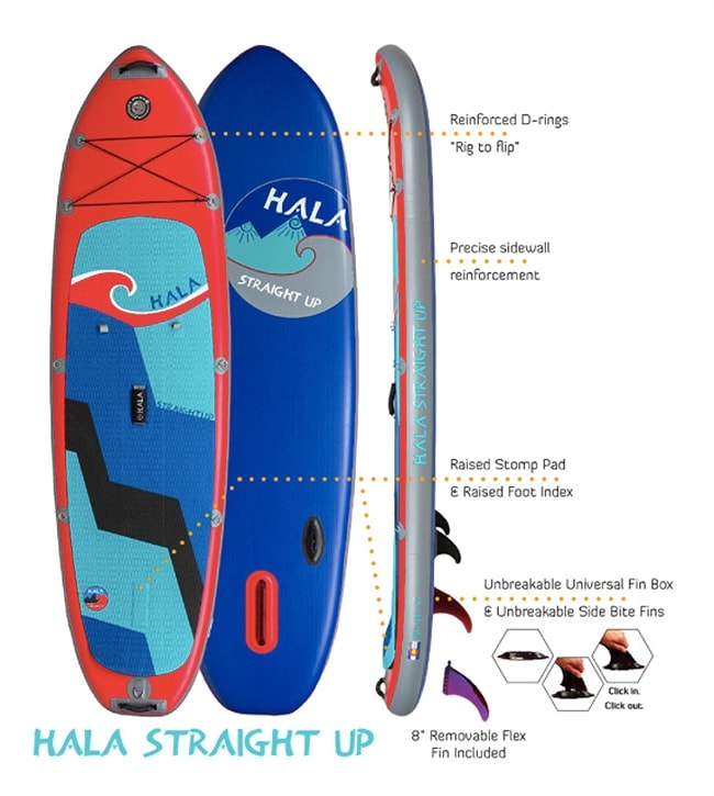 Hala Straight Up Inflatable SUP