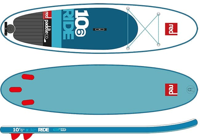 """Red Paddle Co Ride 10'6"""" iSUP"""