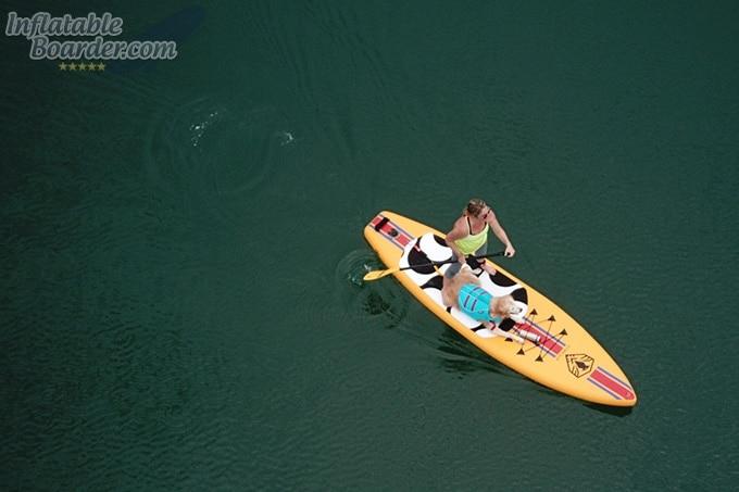 Paddleboarding with Ruffwear Float Coat
