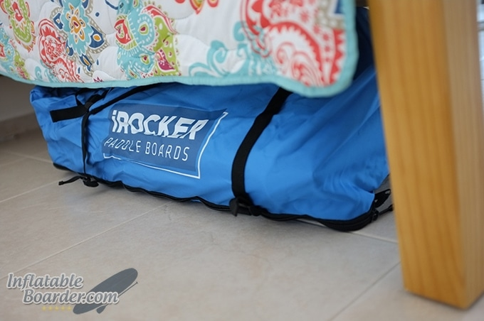 iRocker Backpack Under Bed