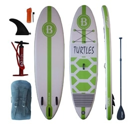 "Bright Blue 9'6"" Paddle Board for Kids"