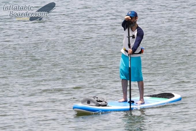 Paddle North Deck Bag on Paddleboard