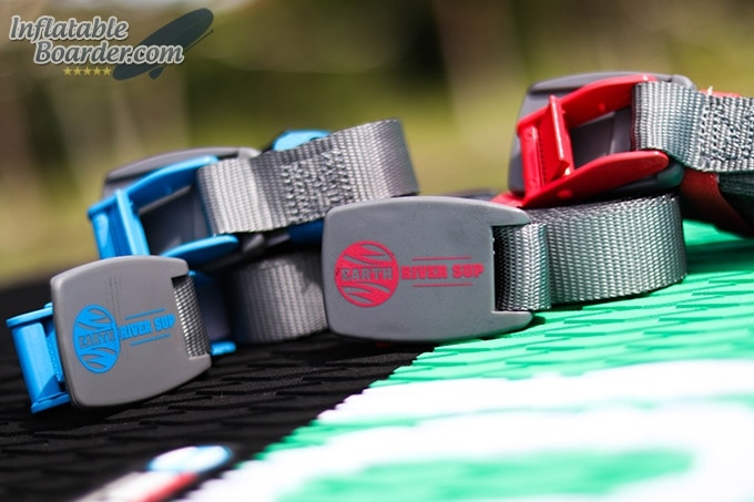 Earth River SUP Red and Blue Straps