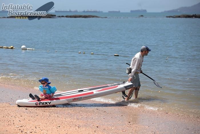 Pulling NIXY Manhattan on Beach