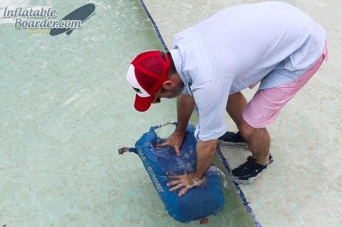 Sea to Summit SUP Deck Bag Testing