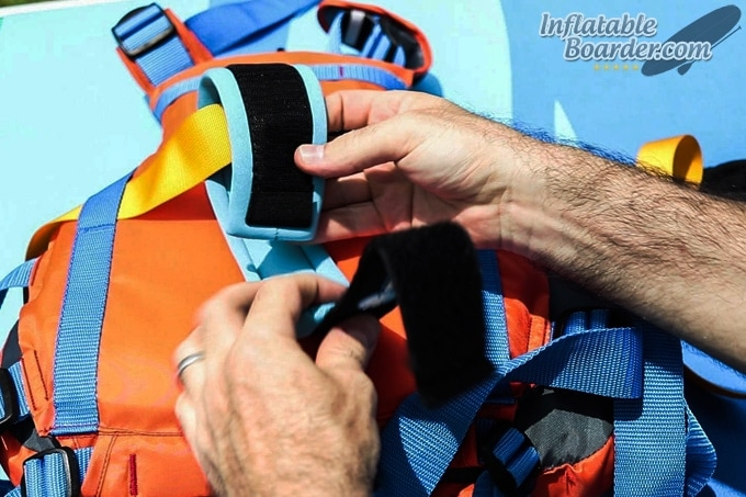 Attaching SUP Leash MTI Safety Belt