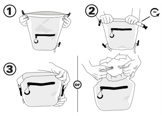 SealLine Seal Pak Waterproof Fanny Pack Instructions