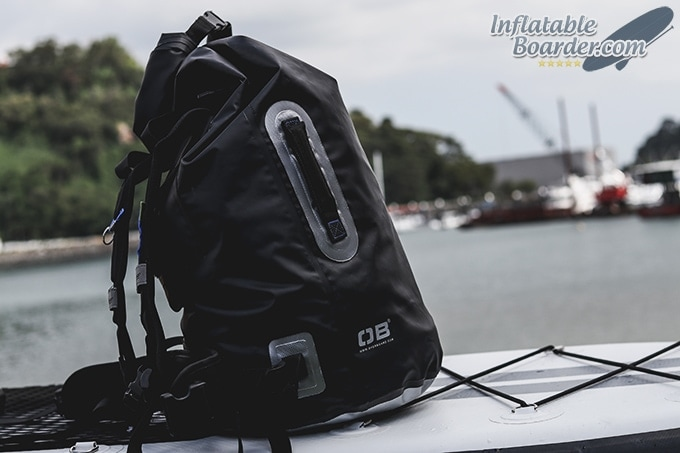 OverBoard 60L Dry Tube Backpack Side Handle