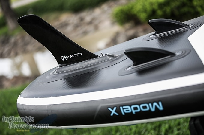 Blackfin Model X Triple Fin Configuration