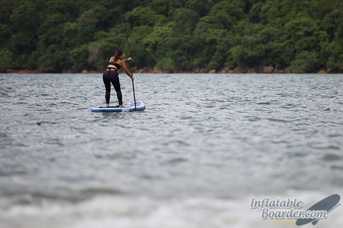 Female Paddling Atoll Paddle Board