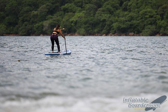 Female Paddling Atoll Paddle Board