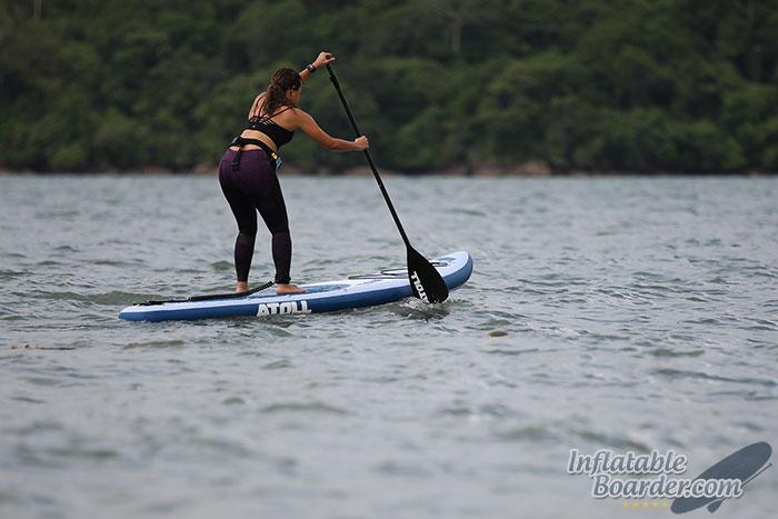 Woman Paddling Atoll SUP