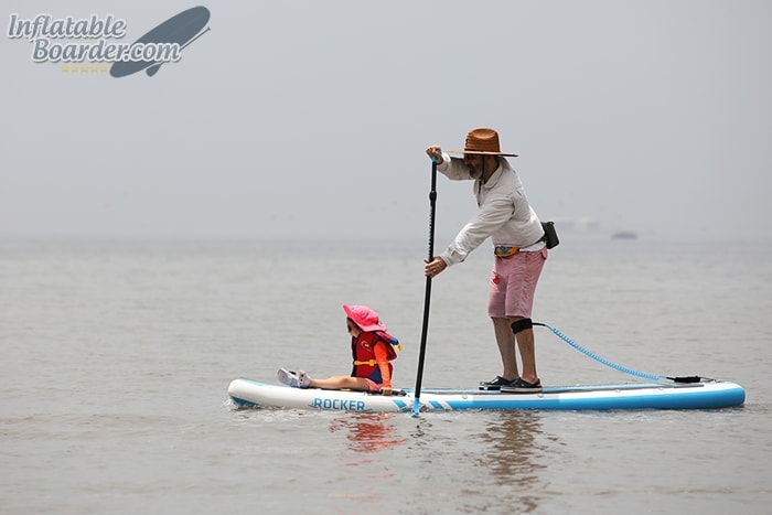 Paddling Child on SUP