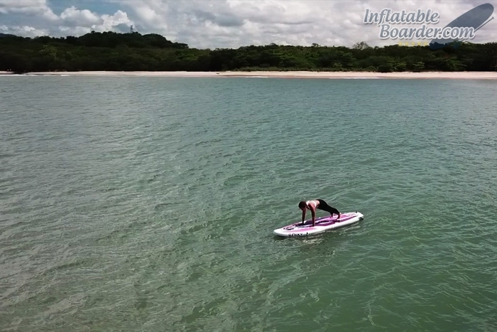 Exercising on SUP