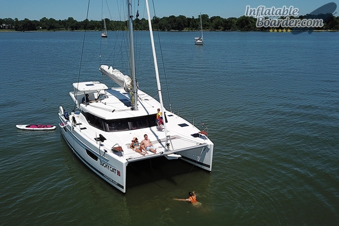 NIXY Venice Behind Boat