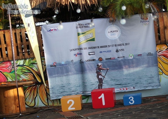 Entering Paddle Board Race