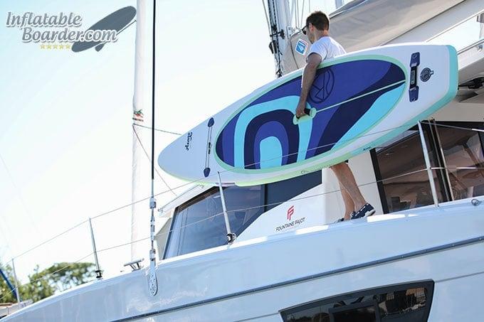 Jimmy Styks Asana on Sailboat