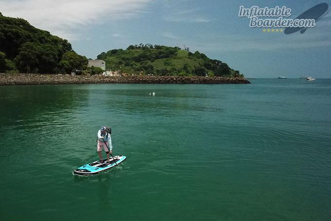 Paddleboarding with YETI Panga Backpack 28