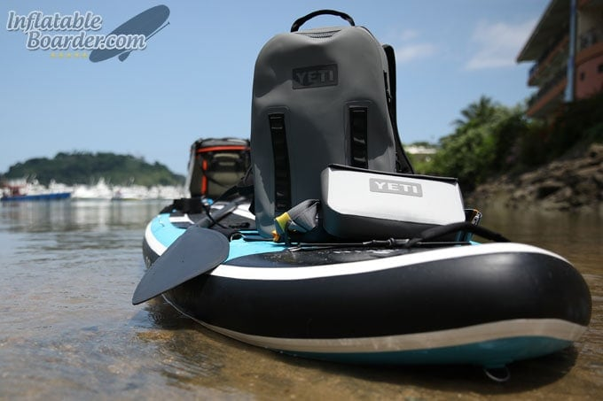 YETI Panga Backpack 28 on Inflatable SUP