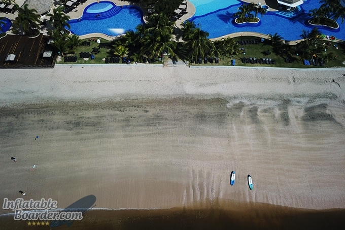 Inflatable SUPs on Beach