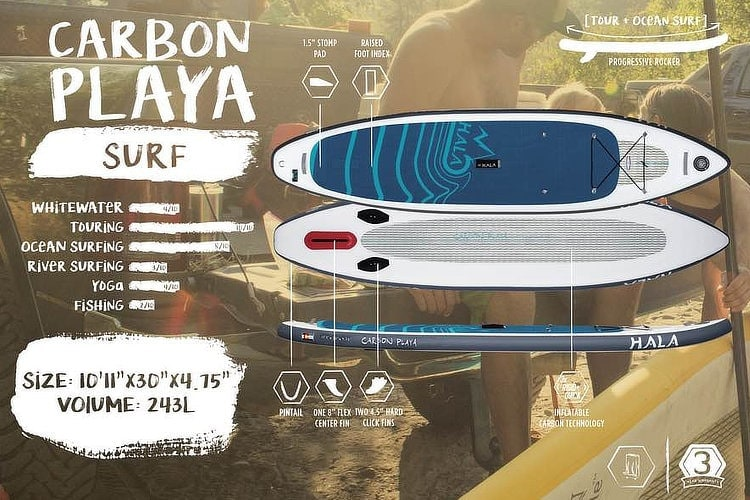 Hala Carbon Playa Surf SUP