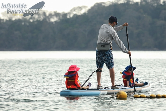 Paddling BLACKFIN SUP with Kids