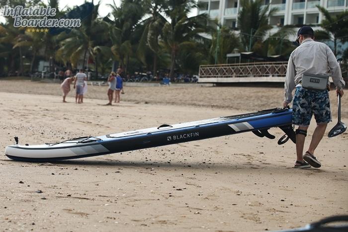 Pulling Model XL on Beach