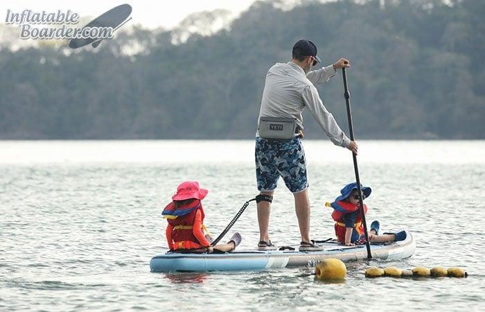 Family Paddleboarding Photo