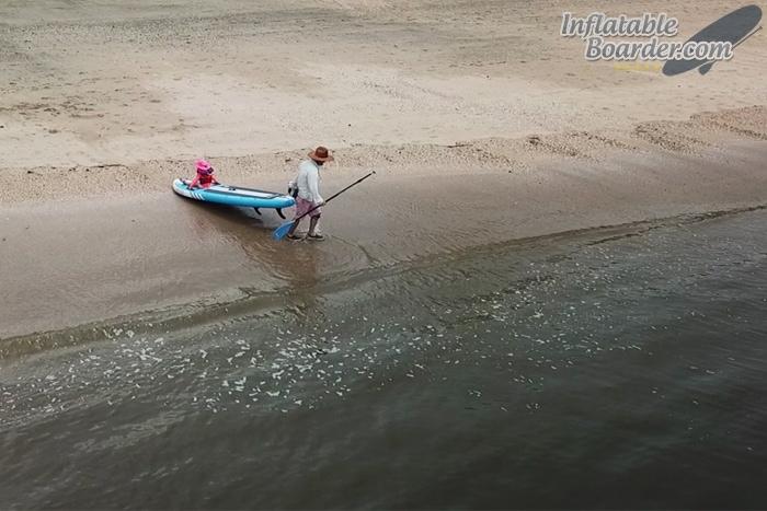 iROCKER Paddle Board on Beach