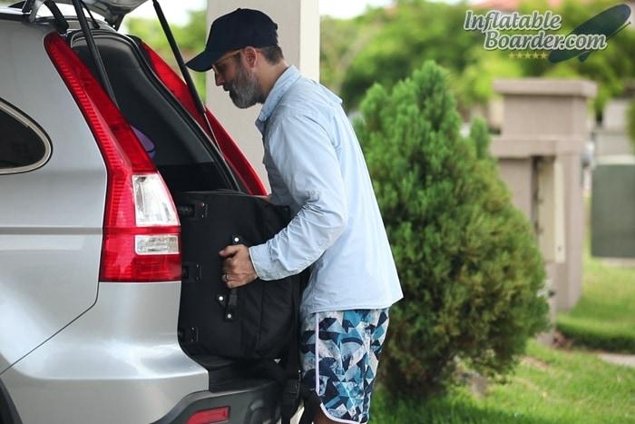 Putting NIXY Bag in Vehicle