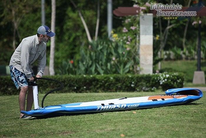 Inflating THURSO SURF Max iSUP