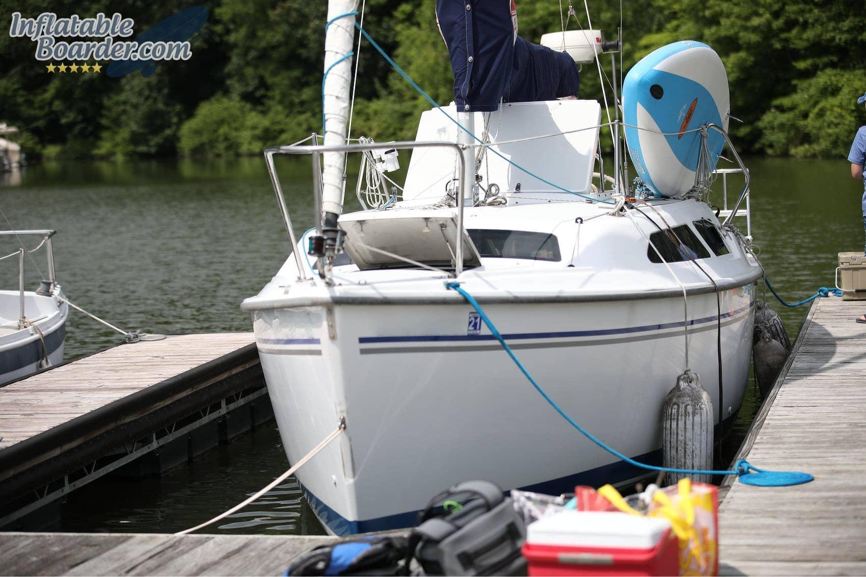 Body Glove iSUP on Boat