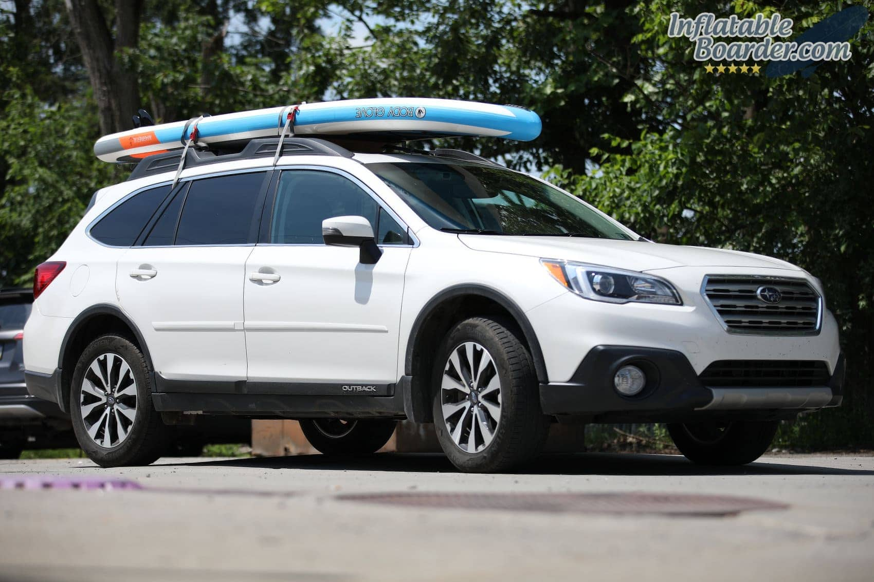 Body Glove SUP on Roof Rack
