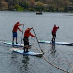 Earth River SUP 11-0 SKYLAKE GREEN Group Paddle