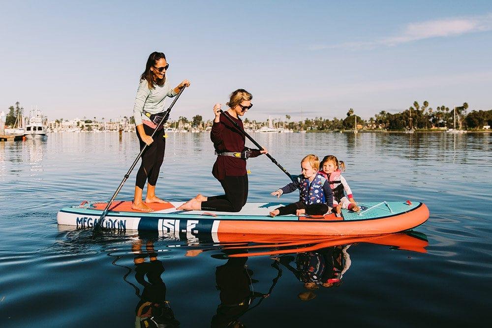Family Paddling ISLE Megalodon 12' SUP