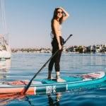 Female Paddler on ISLE Pioneer SUP