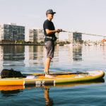 Fishing on ISLE Sportsman Paddle Board