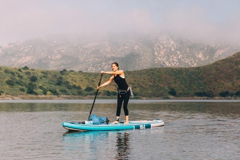 Woman Paddling ISLE Discovery SUP
