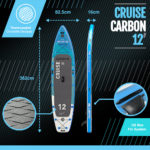 Bluefin SUP Cruise Carbon 12' Details