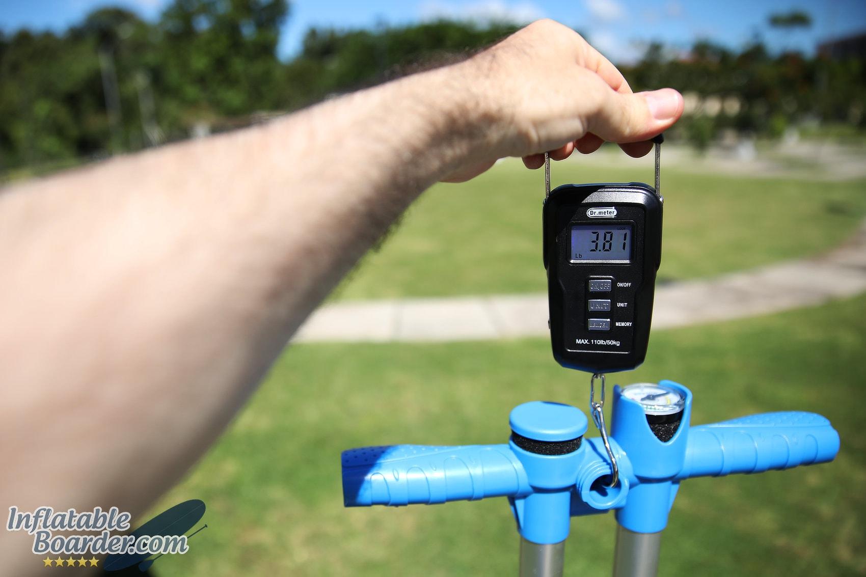GRI HP6 iSUP Pump Weight
