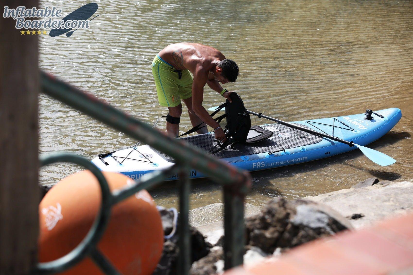 Securing SUP Kayak Seat