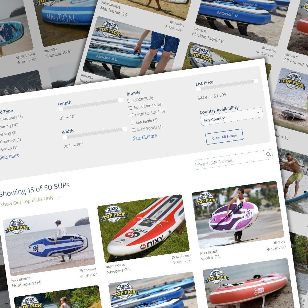 search and compare SUPs
