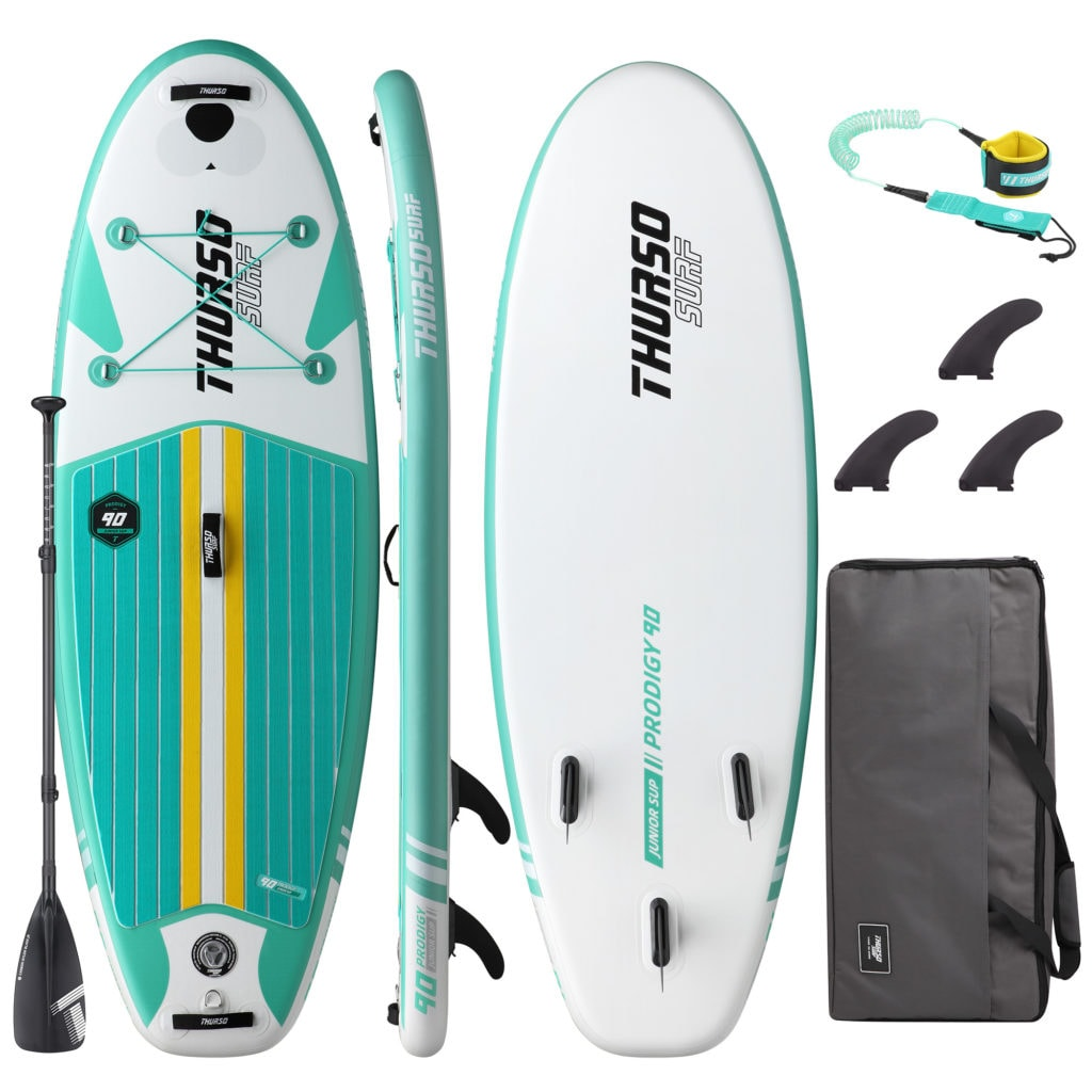 Thurso Prodigy Junior — emerald teal kids paddle board accessory package
