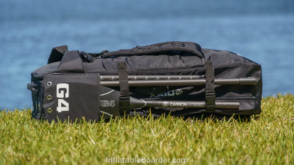 Side of the NIXY bag, featuring paddle pocket.