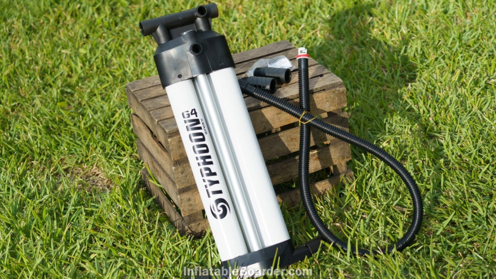 The G4 NIXY Typhoon is a premium triple-stage dual-chamber iSUP pump.