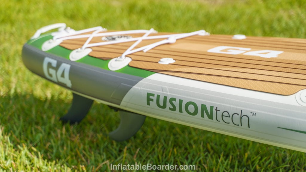 Rear side of the G4 board featuring FusionTech construction branding