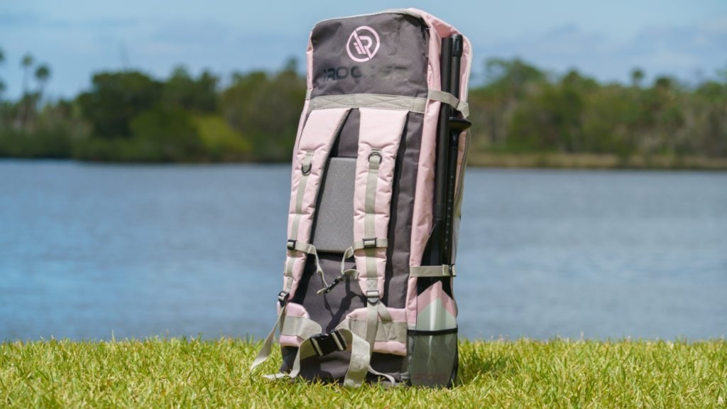 Rear of the pink iROCKER bag.