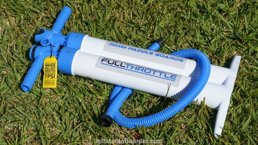 iROCKER's Full Throttle pump is dual-chamber, triple-action.