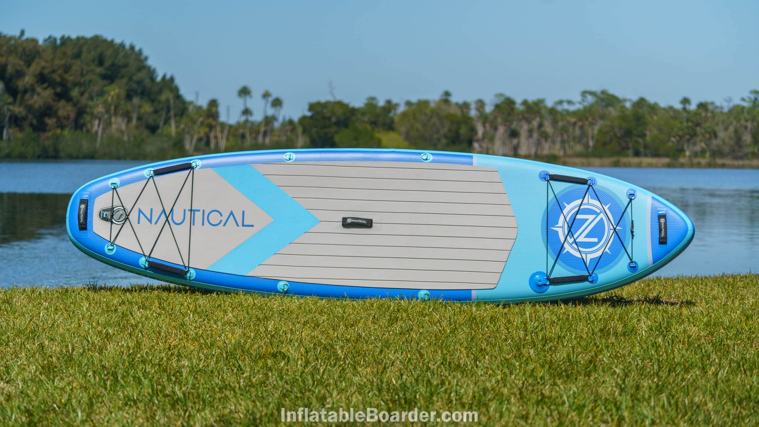 """2021 NAUTICAL 10'6"""" board overview in blue color."""