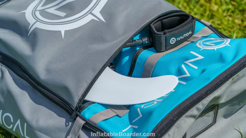 Top pocket of the Nautical bag is large enough to carry the accessories and fins.